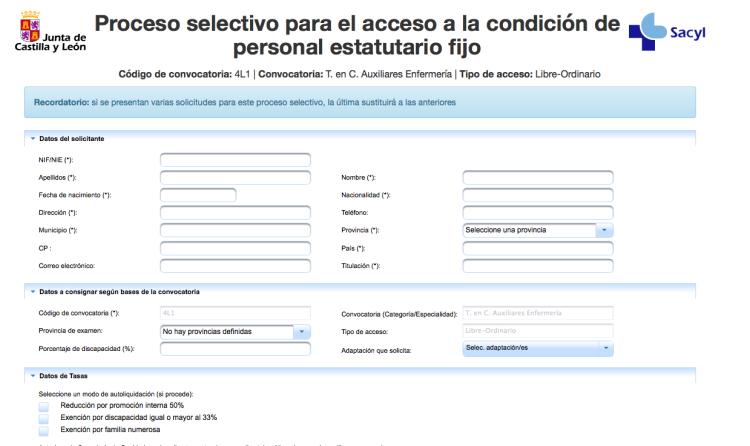 Paso 3: Cumplimentar el formulario e imprimir